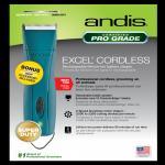 ANDIS Excel Cordless Akkuschermaschine inkl. Sc...