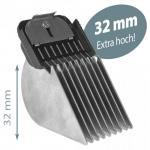 Aufsteckkamm Edelstahl 32 mm SnapOn EXTRA HOCH